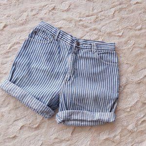 vintage pepe high waist stripe shorts